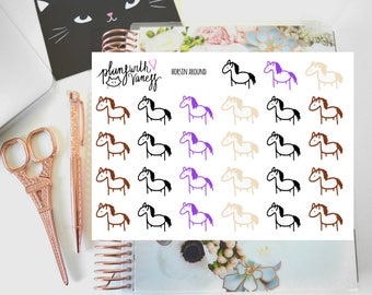 Horsin Around (Horses, Sketch Horse, Neigh) Hand Drawn Planner Stickers