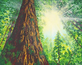 Look Up Forest Painting | Gift For Dad | Art | Art Prints | Prints | Home Decor | Wall Decor | Wall Art | Wall Hanging | Gift For Him | Gift