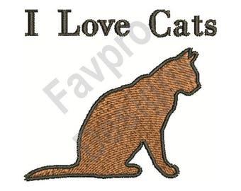 Love Cats - Machine Embroidery Design