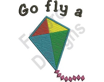 Fly A Kite - Machine Embroidery Design