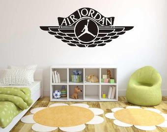 Air Jordan Jumpman -  Basketball Theme -  Wall Decal For Home Nursery Decoration