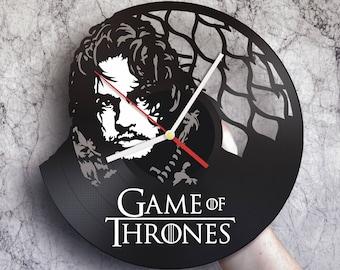 Game of thrones gift, Unique vinyl wall clock, Game of thrones baby, Game of thrones art, Jon Snow, Father son gift, Game of thrones clock