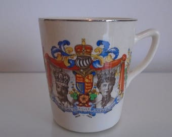 Vintage King George V Queen Mary Silver Jubilee Cup /1910 1935