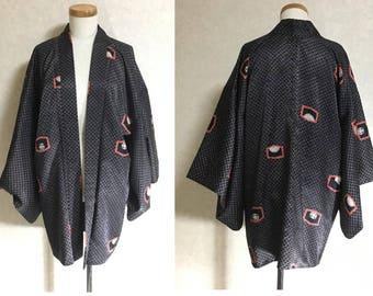 Japanese.old. kimono.free shipping.haori.coat.099