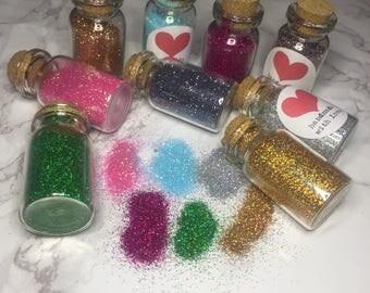 Loose glitter jars / pots - Makeup glitter. Face glitter. Body glitter.