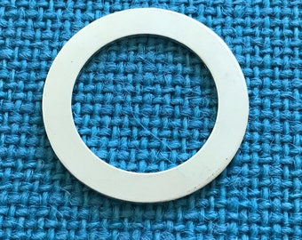 Sterling silver blank - 3 pack 1 1/4 inch, 18 gauge thick washer - sterling silver disc blanks - silver blank - stamping blanks - .