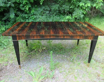 Beautiful French Art Deco  Exotic Macassar Ebony Table 1940's