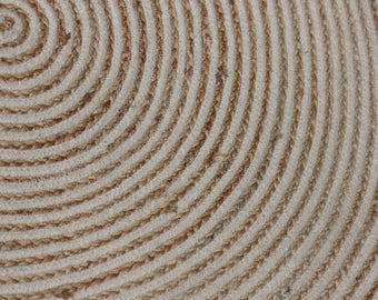 Handwoven Hemp Rug Dhurrie, Traditional, Natural Hemp Color, Hemp /Seagrass/Mountain
