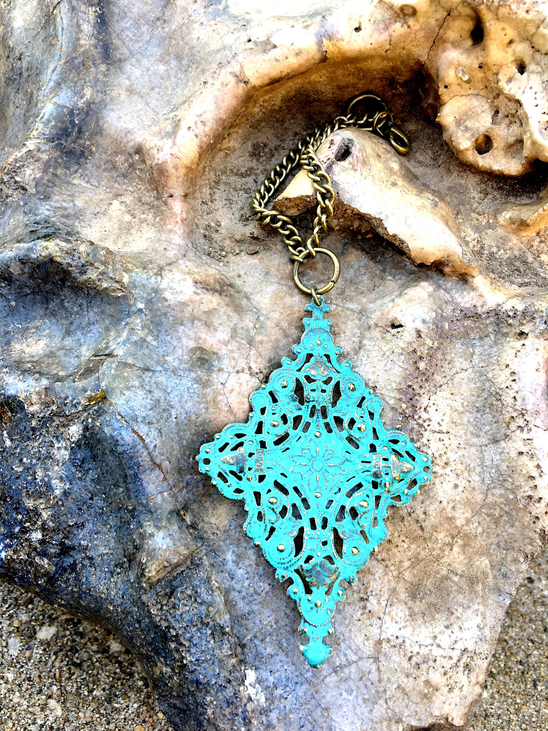 Turquoise scarf jewelry turquoise filigree pendant scarf gallery photo gallery photo gallery photo gallery photo mozeypictures Choice Image