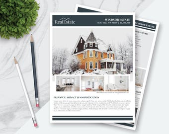 """Real Estate Flyer Template 