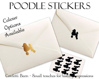 Poodle Stickers - Removable Vinyl - 1950's Party Invitations - Sock-Hop - Vintage - Envelope Sealing Stickers - Planner Stickers #76