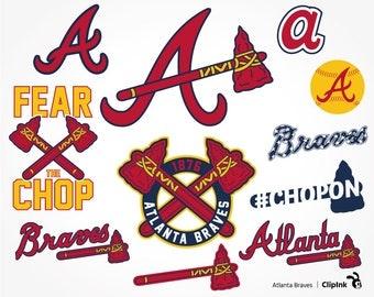 Atlanta Braves svg, Braves clipart, Atlanta svg, chop on, Braves baseball files – svg, eps, png, dxf, pdf. Decor Cut Print Mug Shirt Decal.