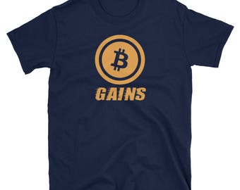Bitcoin Gains Cryptocurrency T-Shirt