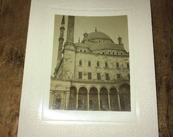 Antique Mounted photo: Mosque, Mohamed, Cairo Egypt Late 1800s to Early 1900s