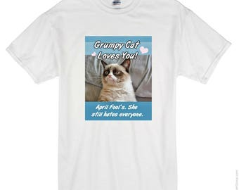 Grumpy Cat Who Needs April Fools T-shirt? Keep Calm It's Only April Fools Day