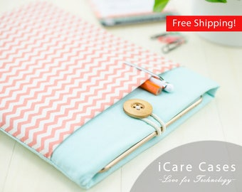 New iPad 9.7 Cover iPad 9.7 inch Case iPad Best Case New iPad 9.7 2017 Sleeve for iPad 10 iPad Zigzag Chevron Coral Mint Sleeve Comfortable