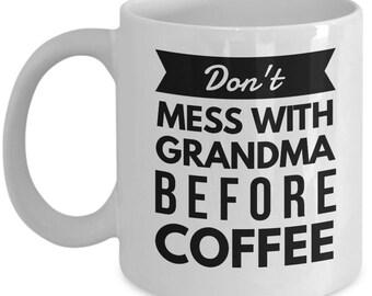 Best Grandma Coffee Mug Tea Cup, Grandmother Gigi Nanna Novelty Gift Idea