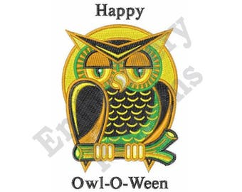 Happy Owl-O-Ween - Machine Embroidery Design