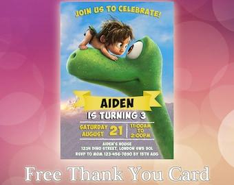 The Good Dinosaur / The Good Dinosaur Invitation / The Good Dinosaur Birthday / The Good Dinosaur invite / GD04