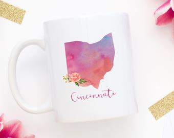Cincinnati Coffee Mug | Ohio Mug | City Mug | Location Mug | Gift for Her | Moving Gift | Cincinnati Gift | Home Mug | Welcome To Cincinanti
