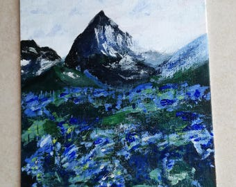 "Original Painting ""Mountain View"" By Alinafe Malitoni"