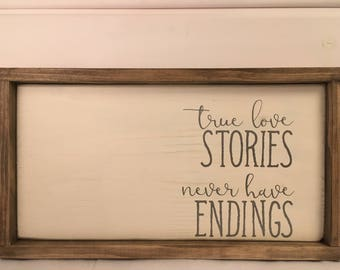 home decor, wooden sign, wall decor, custom wood sign, personalized wood sign, home interiors, handmade wood sign, love, true love, stories