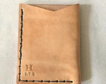 Handmade Leather Card Sleeve
