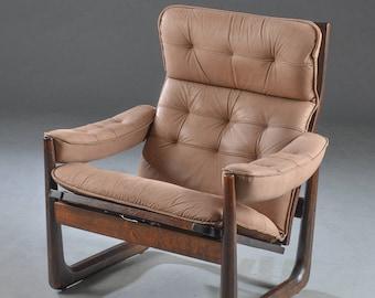 Scandinavian recliner armchair