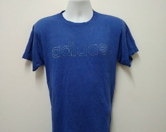 Vintage 80s Adidas T tee Shirt University of Rochester Large Size Made in USA