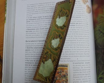 """Bookmarks children """"sheep 1,2,3"""" embossed cowhide leather"""
