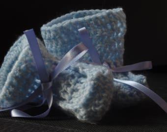 SALE! Blue Crochet Booties