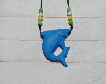 Shark Kids Toddlers Jewelry Fidget Necklace Sensory Necklace Gift For Kids Toddlers