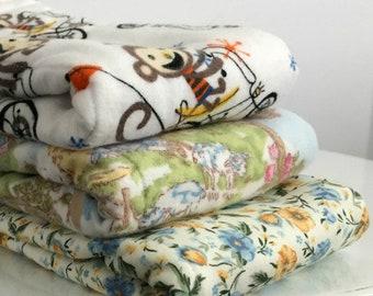 Choice of 3 for 24 dollars | baby burp cloth | burp cloth set | trimmed burp cloth set | baby shower gift | baby girl gift | baby boy gift