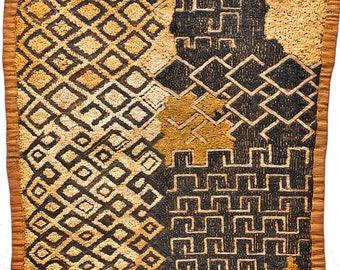 Vintage Kuba Cloth - African Textile - Ethnic Textile - African Wall Decor - KC706