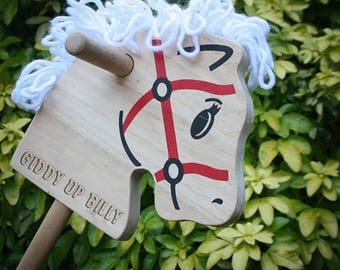 Personalised Wooden Hobby Horse, Stick Horse, Wooden Horse, Wooden Stick Horse