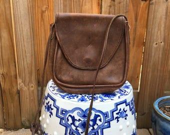 Vintage Coach Purse // Vintage crossbody Coach purse // Vintage Brown Coach purse // Leather purse
