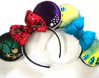 Ariel & Flounder Mickey Mouse ear collab *For a discounted price*