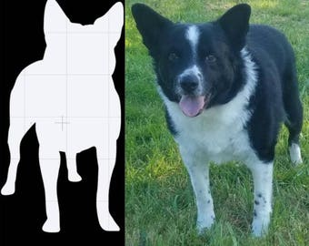 Dog Silhouette stickers-***In the notes section tell us what breed your dog is, and if you want their name, tell us the name and font?****