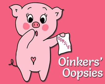 Oinkers' Oopsies - Mess Up Bags - Mess Up Stickers - Mess Up Planner Stickers - Oops Bags - Planner Stickers - Pig Stickers
