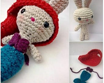 Mermaid sparkle Amigurumi crochet Bunny / Rabbit Crochet mermaid in disguise