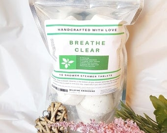 Aromatherapy Shower Steamer/Melt 10 Pack, Breathe Clear, Easter basket, gift for him, essential oils, time saver, husband gift, easter gift