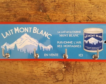 Key holder enamelware (Mont Blanc milk)