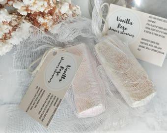 Vanilla Rose SHOWER STEAMER - Shower Melt - Bath Bomb - Aromatherapy - Gift for Her - Bridesmaids Gift - Wedding Gift
