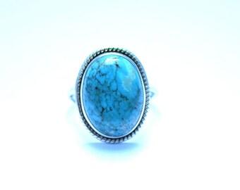TURQUOISE STONE RING, Turquoise Ring, Turquoise Silver Ring, 92.5 sterling Silver Ring, Handmade Ring, Gypsy Ring ,  1