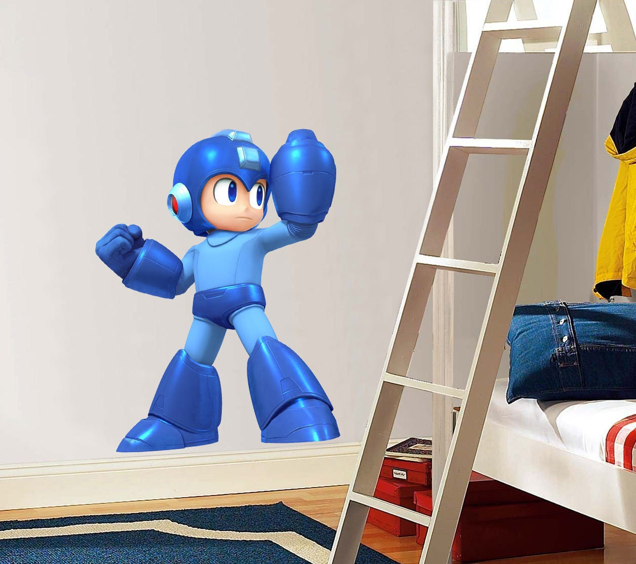 Mega man decal removable wall sticker decor art megaman video game mega man decal removable wall sticker decor art megaman video game room kids amipublicfo Choice Image