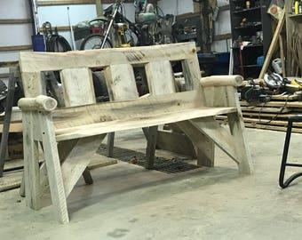 Live edge Rustic bench