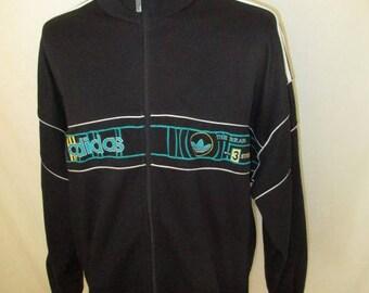 Vintage Adidas black size XL 1990 track jacket