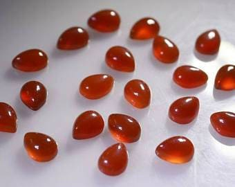 Natural lot of 5pcs Natural red Onyx 13x18mm  pear shape cabochon loose  beautiful gemstone for women Jewelry for sale