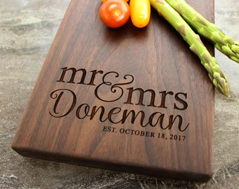 Personalized Cheese Board, Serving Board, Bread Board, Custom, Engraved, Wedding Gift, Housewarming Gift, Anniversary Gift, Engagement #36