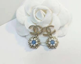 New cute cc earrings chanel inspired